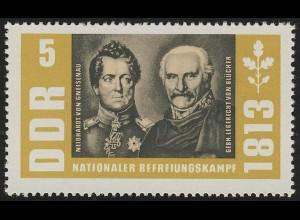 988 Befreiungskriege Gneisenau+Wahlstatt 5 Pf **
