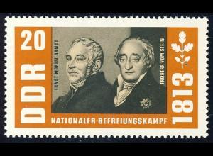 990 Befreiungskriege Arndt+Stein 20 Pf **