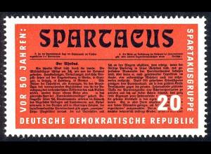 1154 Reichskonferenz Spartakus aus Block 25 20 Pf **