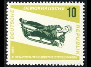 1156 Rennrodel-WM Damen-Einsitzer 10 Pf **
