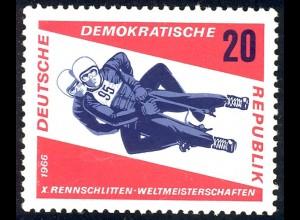 1157 Rennrodel-WM Herren-Doppelsitzer 20 Pf **