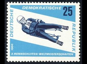 1158 Rennrodel-WM Herren-Einsitzer 25 Pf **