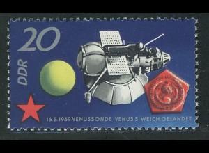 1636 Sowjetische Weltraumflüge 20 Pf **