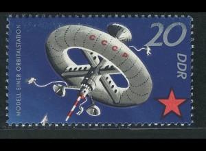 1637 Sowjetische Weltraumflüge 20 Pf **