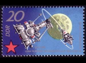 1638 Sowjetische Weltraumflüge 20 Pf **