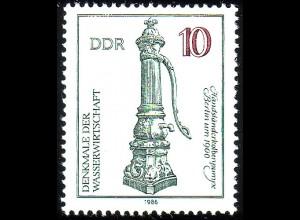 2993 Denkmale Wissenschaft 10 Pf Kolbenpumpe **