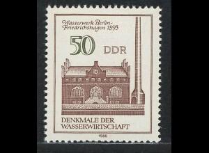 2995 Denkmale Wissenschaft 50 Pf Wasserwerk **