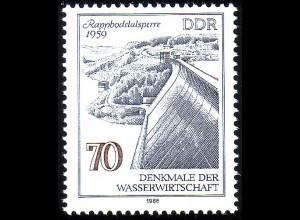 2996 Denkmale Wissenschaft 70 Pf Rappbodetalsperre **