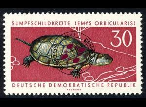 980 Geschützte Tiere Sumpfschildkröte 30 Pf O