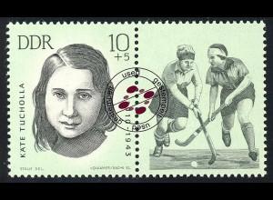 984 Mahn-/Gedenkstätten Sportler Tucholla 10+5 Pf O