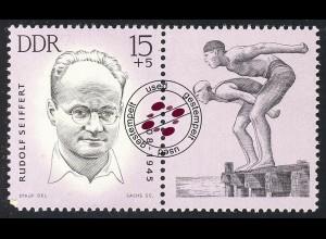 985 Mahn-/Gedenkstätten Sportler Seiffert 15+5 Pf O