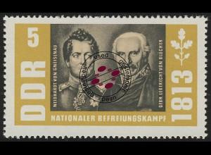 988 Befreiungskriege Gneisenau+Wahlstatt 5 Pf O