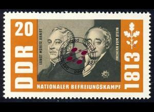 990 Befreiungskriege Arndt+Stein 20 Pf O