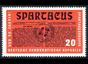 1154 Reichskonferenz Spartakus Bl. 25, 20 Pf O
