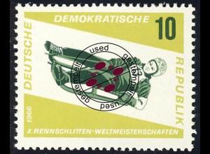 1156 Rennrodel-WM Damen-Einsitzer 10 Pf O