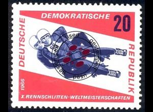 1157 Rennrodel-WM Herren-Doppelsitzer 20 Pf O