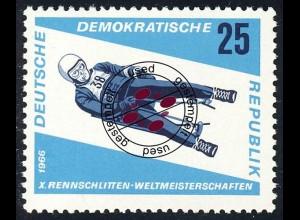 1158 Rennrodel-WM Herren-Einsitzer 25 Pf O