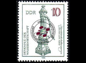 2993 Denkmale Wissenschaft 10 Pf Kolbenpumpe O