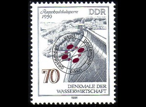 2996 Denkmale Wissenschaft 70 Pf Rappbodetalsperre O