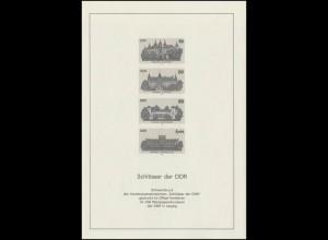 Schwarzdruck aus JB 1986 Schlösser 3032-35 S