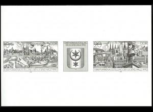 3338-3339 S Schwarzdruck der DDR Briefmarkenausstellung Halle 1990