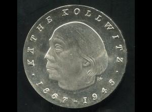 Gedenkmünze Käthe Kollwitz 10 MDN von 1967, vorzügliche Erhaltung