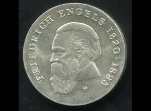 Gedenkmünze Friedrich Engels 20 Mark von 1970, vorzügliche Erhaltung