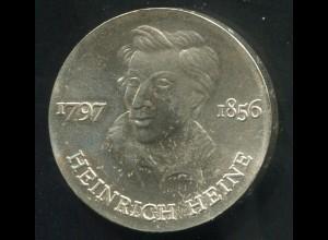 Gedenkmünze Heinrich Heine 10 Mark von 1972, vorzügliche Erhaltung