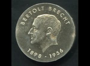 Gedenkmünze Bertolt Brecht 10 Mark von 1973, vorzügliche Erhaltung