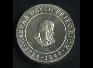Gedenkmünze Casper David Friedrich 10 Mark von 1974, vorzügliche Erhaltung