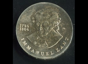 Gedenkmünze Immanuel Kant 20 Mark von 1974, vorzügliche Erhaltung