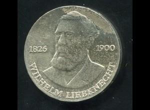 Gedenkmünze Wilhelm Liebknecht 20 Mark von 1976, vorzügliche Erhaltung