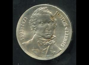 Gedenkmünze Justus von Liebig 10 Mark von 1978, vorzügliche Erhaltung