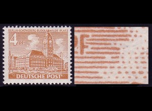 43II Berliner Bauten 4 Pf - PLF II [PM 1] ** postfrisch