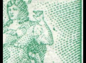 61I Goethe 10 Pf mit PLF I Farbfleck neben rechtem Unterarm, **