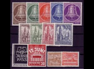 101-113 Berlin-Jahrgang 1953 komplett, postfrisch **
