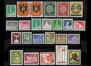 135-158 Berlin-Jahrgang 1956 komplett, postfrisch **