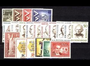 159-178 Berlin-Jahrgang 1957 komplett, postfrisch **