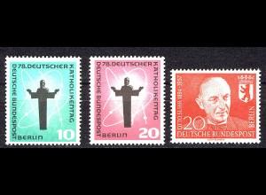 179-181 Berlin-Jahrgang 1958 komplett, postfrisch **