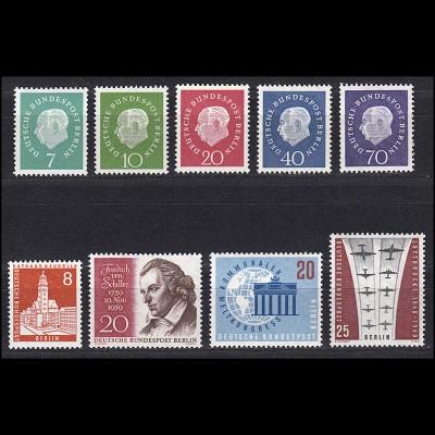 182-190 Berlin-Jahrgang 1959 komplett, postfrisch **
