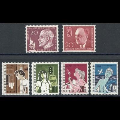 191-196 Berlin-Jahrgang 1960 komplett, postfrisch **