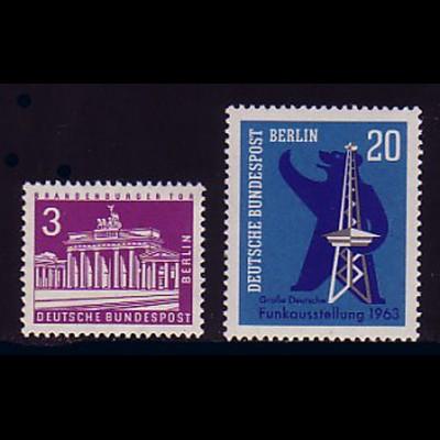 231-232 Berlin-Jahrgang 1963 komplett, postfrisch **