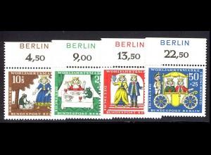 295-298 Wofa 1966 - Oberrand-Satz mit BERLIN-Zudruck ** postfrisch