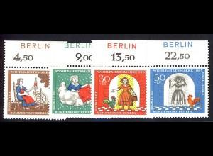 310-313 Wofa Frau Holle 1967 - BERLIN-Zudruck, Oberrand-Satz ** postfrisch