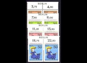 322-325 Puppen BERLIN ohne Farbstreifen ** postfrisch