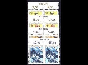 342-345 IPTT-Kongress - BERLIN-Zudruck, Oberrand-Paare, Satz **