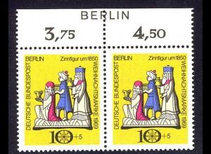 352 Weihnachten 1969 - Paar mit BERLIN-Zudruck ** postfrisch