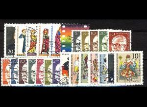 353-378 Berlin Jahrgang 1970 komplett, O gestempelt