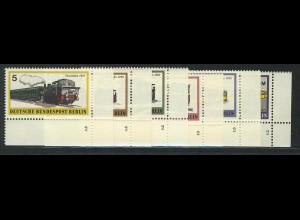 379-384 Schienenfahrzeuge 1971, FN2 Satz **