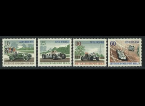 397-400 AVUS-Rennen 1971 aus Block 3, Satz postfrisch